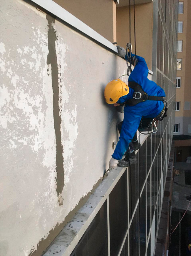 Ремонт фасада балконов г. Екатеринбург